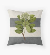botanical stripes 5 Throw Pillow