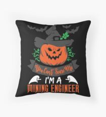Halloween T-Shirts & Gifts: You Can't Scare Me I'm a Mining Engineer Bodenkissen