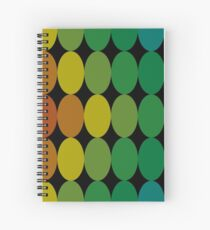Polka Dots Painting Multicolored Spiral Notebook