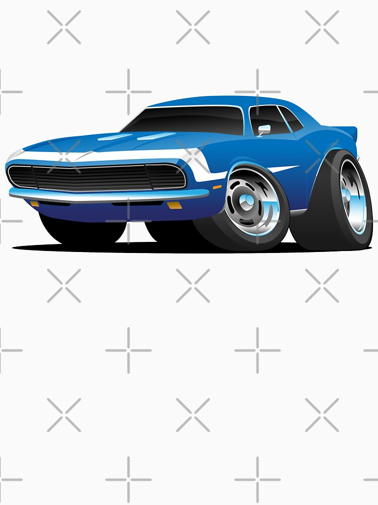 Classic Sixties Style American Muscle Car Hot Rod Cartoon by hobrath