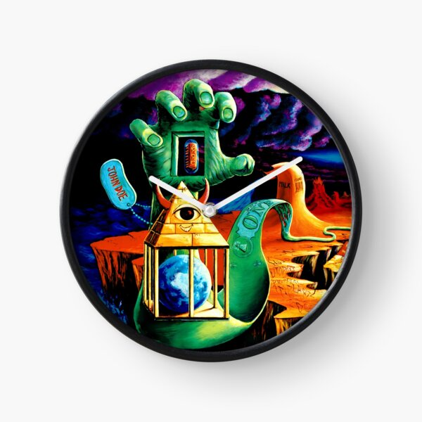 """Trippy Psychedelic Visionary Surreal Psy Art titled """"The Practical Deception"""" by Vincent Monaco.  Clock"""