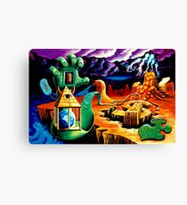 """Trippy Psychedelic Visionary Surreal Psy Art titled """"The Practical Deception"""" by Vincent Monaco.  Canvas Print"""