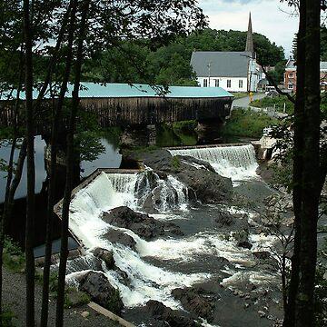 Bath Covered Bridge New Hampshire Poster by waynedking
