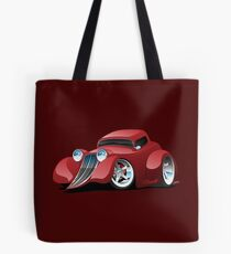Red Hot Rod Restomod Custom Coupe Tote Bag