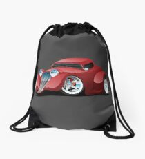 Red Hot Rod Restomod Custom Coupe Drawstring Bag