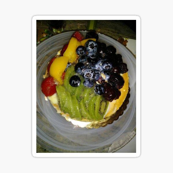 #fruit #food #dessert #cake #strawberry #sweet #fresh #blueberry #plate #cream #berry #breakfast #tart #white #raspberry #berries #healthy #snack #delicious #red #salad #gourmet #pastry #diet #kiwi Sticker