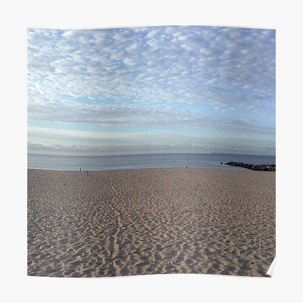 #Sand #beach #sea #sky #sand #water #ocean #coast #blue #nature #summer #landscape #clouds #wave #shore #seaside #cloud #coastline #horizon #travel #seascape #vacation #sunset Poster