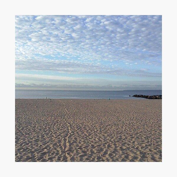 #Sand #beach #sea #sky #sand #water #ocean #coast #blue #nature #summer #landscape #clouds #wave #shore #seaside #cloud #coastline #horizon #travel #seascape #vacation #sunset Photographic Print