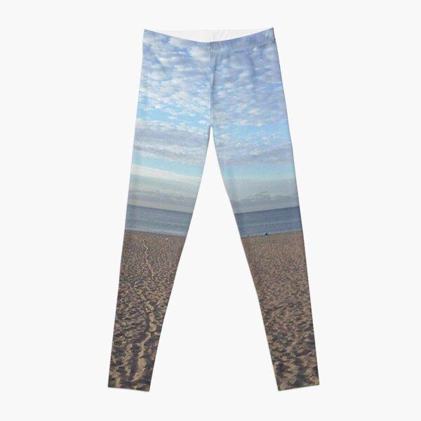 #Sand #beach #sea #sky #sand #water #ocean #coast #blue #nature #summer #landscape #clouds #wave #shore #seaside #cloud #coastline #horizon #travel #seascape #vacation #sunset Leggings