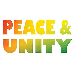 Cool & Awesome Unity Tshirt Design Peace & Unity by Customdesign200