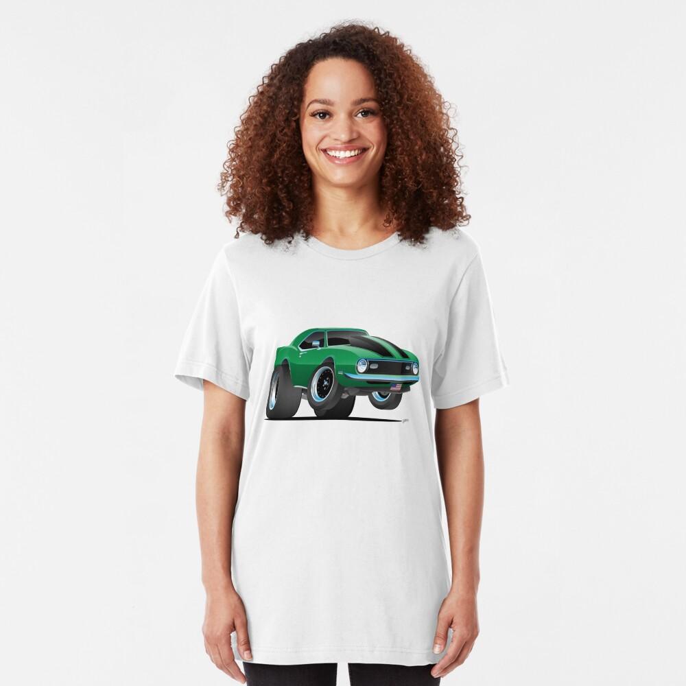 Classic 60's American Muscle Car Cartoon Slim Fit T-Shirt