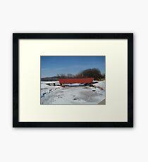 Cedar Covered Bridge Framed Print