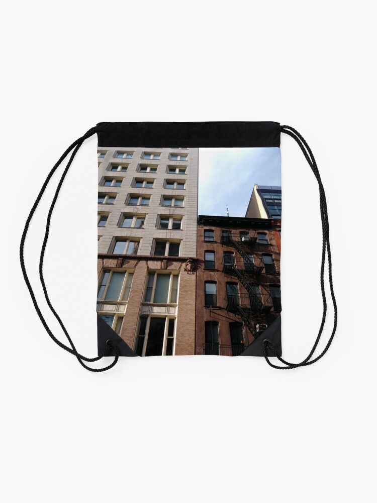 Alternate view of New York City, #New #York #City, #NewYorkCity, #NewYork, #НьюЙорк Drawstring Bag