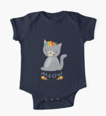 Cute MEOW Funny Cat for Kids Gift  One Piece - Short Sleeve