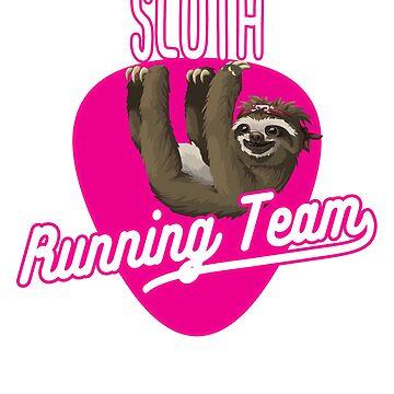 Sloth running team tshirt   Funny sloth shirt by jcaladolopes