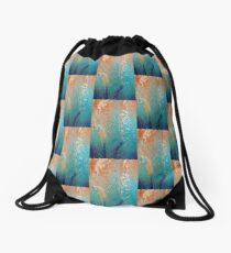 Living by the ocean Drawstring Bag