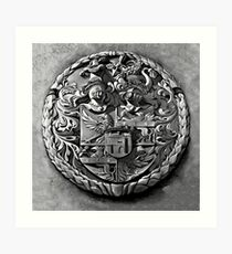 Antique Print of Genetti Coat-of-Arms Art Print