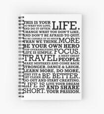 Motivational Manifesto Spiral Notebook