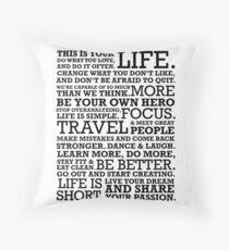 Motivational Manifesto Throw Pillow