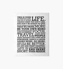 Motivational Manifesto Art Board