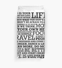 Motivational Manifesto Duvet Cover