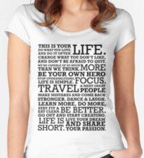 Motivational Manifesto Women's Fitted Scoop T-Shirt