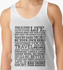 Motivational Manifesto Tank Top