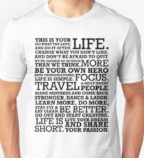 Motivational Manifesto Unisex T-Shirt