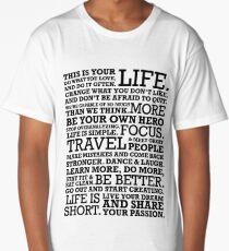 Motivational Manifesto Long T-Shirt
