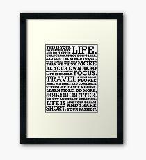 Motivational Manifesto Framed Print