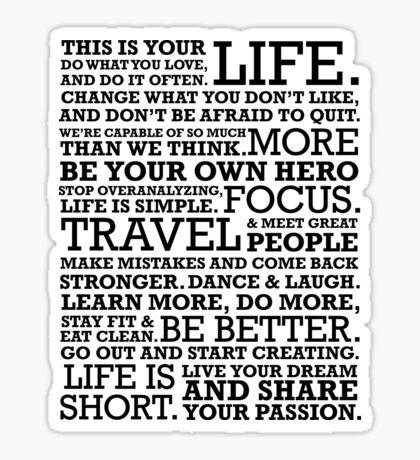 Motivational Manifesto Sticker