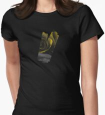 Dark Florals with Bright Yellow Rose Accents Women's Fitted T-Shirt