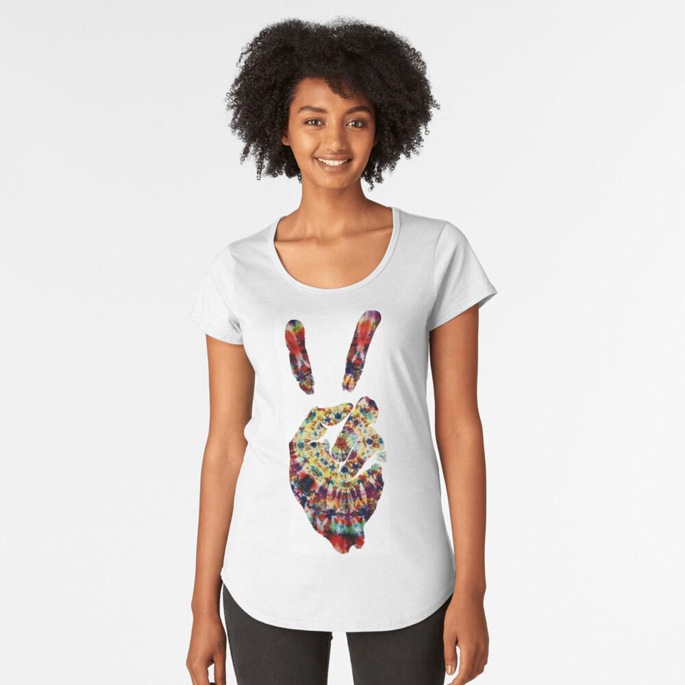 Hippie Friedenszeichen Premium Rundhals-Shirt