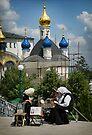 The Ladies of Pochaiv Monastery by Yuri Lev