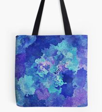 Sandy Watercolor Abstract Blues  Tote Bag