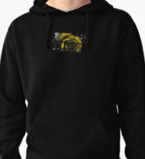Dark Florals with Bright Yellow Rose Accents Pullover Hoodie