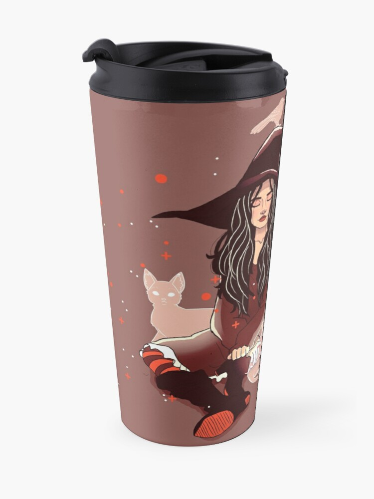 "Alternate view of ""Your Empathy and Kindness Are Their Own Forms of Magic"" Witch Travel Mug"
