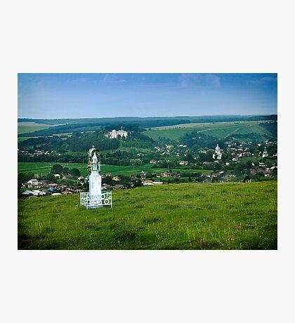 Approach to the Village of Budaniv, Ukraine Photographic Print