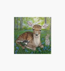 Forest Friends - Bambi , Thumper, and Flower Art Board