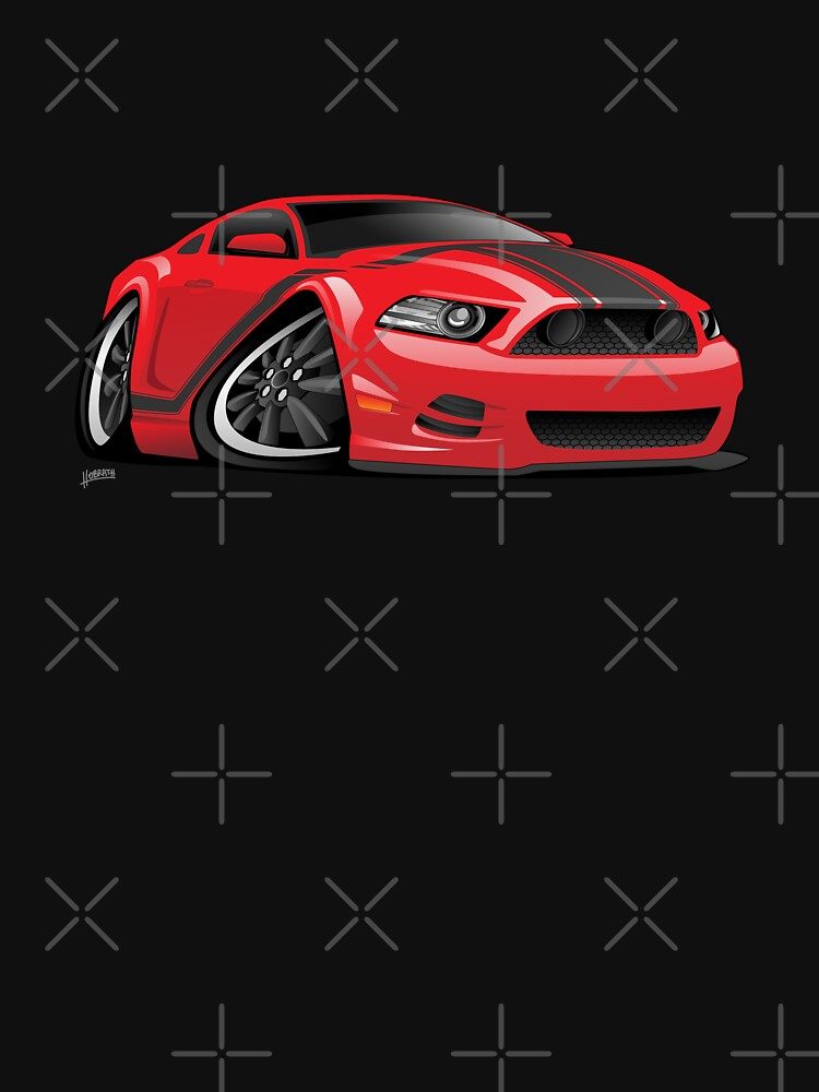 American Muscle Car Cartoon Illustration by hobrath