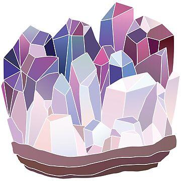 Amethyst Crystal Cluster by EarthlyIndigo
