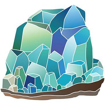 Blue Crystal Cluster by EarthlyIndigo