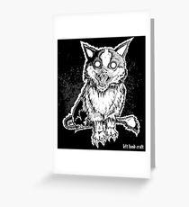 Demonicat - Satanic Cat Greeting Card