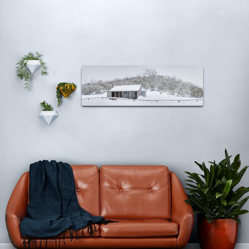 Winter Refuge, Bluff Hut, Alpine National Park, Victoria, Australia Metal Print