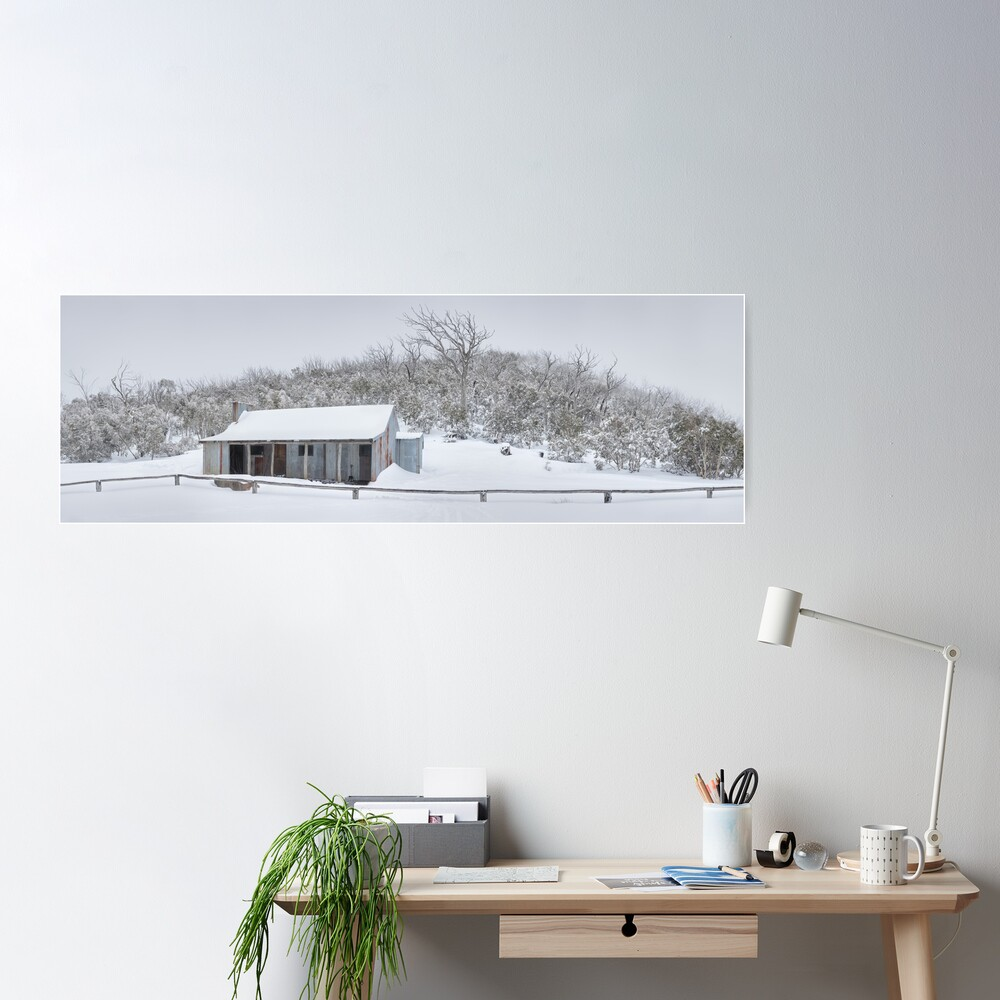 Winter Refuge, Bluff Hut, Alpine National Park, Victoria, Australia Poster