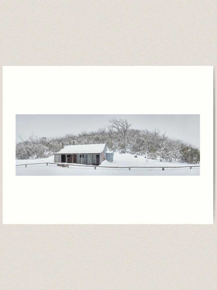 Alternate view of Winter Refuge, Bluff Hut, Alpine National Park, Victoria, Australia Art Print