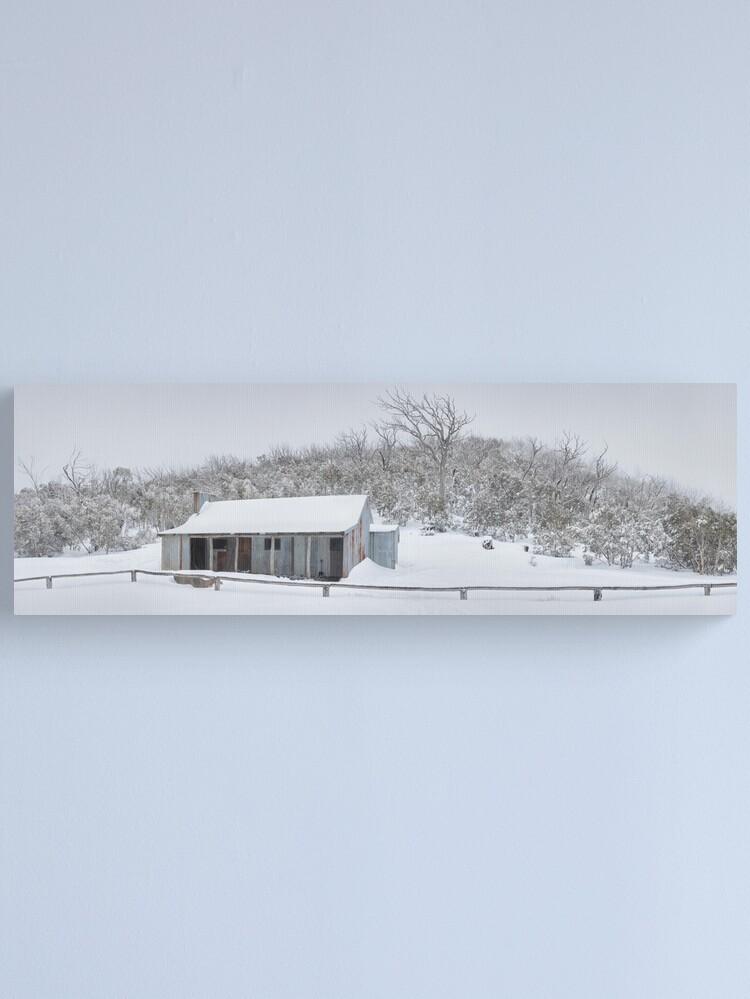 Alternate view of Winter Refuge, Bluff Hut, Alpine National Park, Victoria, Australia Canvas Print