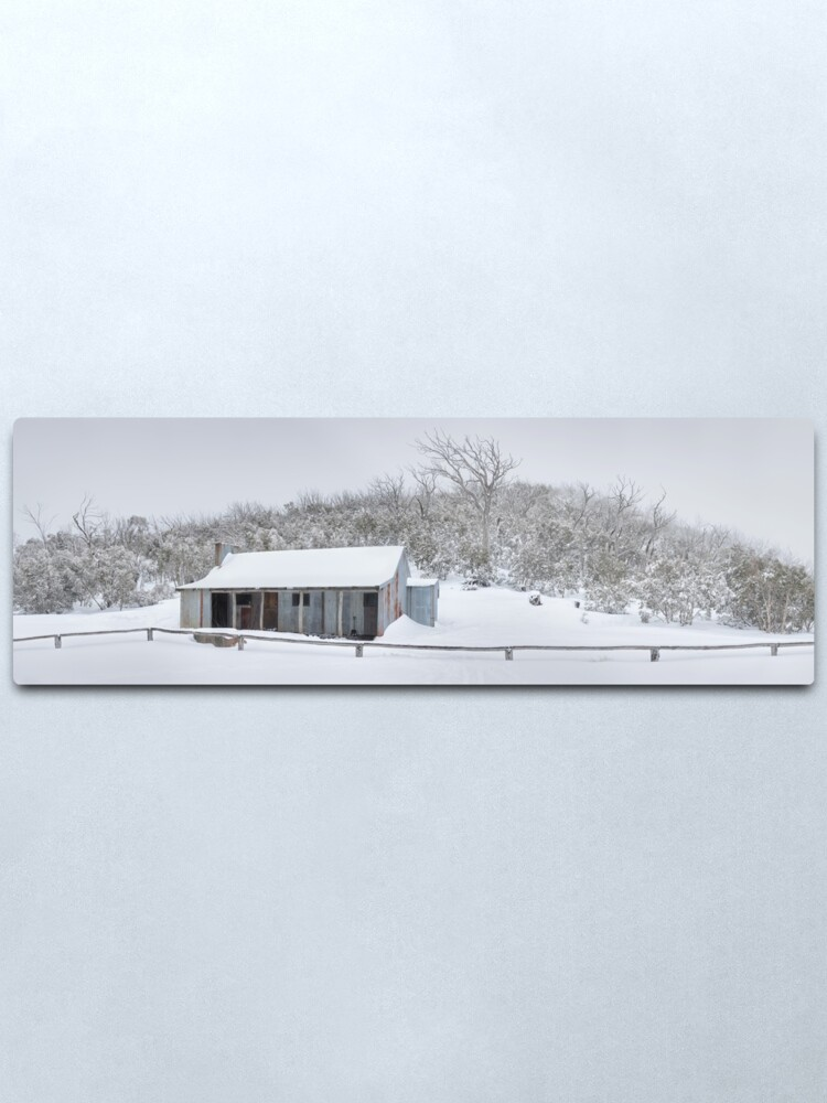 Alternate view of Winter Refuge, Bluff Hut, Alpine National Park, Victoria, Australia Metal Print