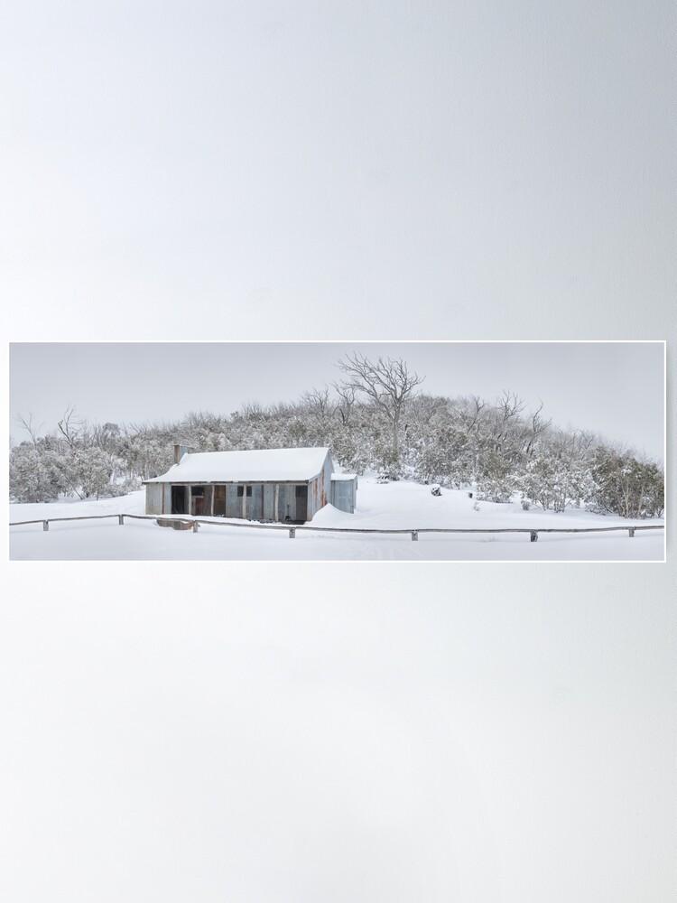 Alternate view of Winter Refuge, Bluff Hut, Alpine National Park, Victoria, Australia Poster