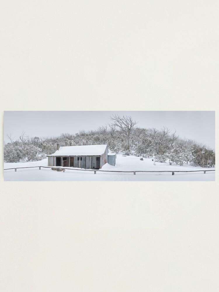 Alternate view of Winter Refuge, Bluff Hut, Alpine National Park, Victoria, Australia Photographic Print